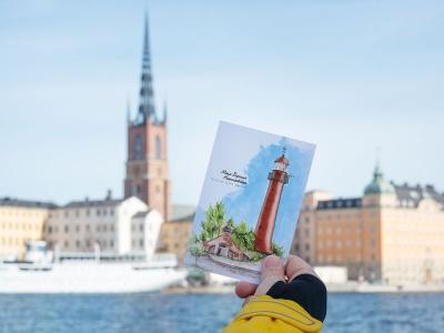 Открытка «маяк Верхний Николаевский» (Финский залив. Россия)