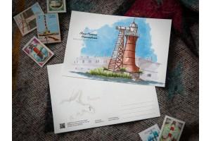Почтовая открытка «маяк Нижний Николаевский» (Финский залив. Россия)