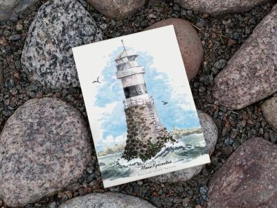 Открытка «маяк Крестовый» (Финский залив. Россия)