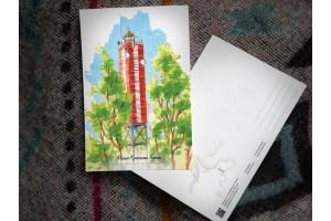 Почтовая открытка «маяк Красная горка» (Финский залив. Россия)