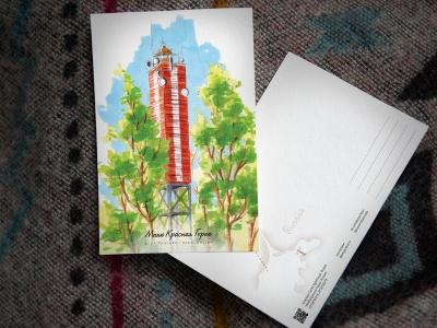 Открытка «маяк Красная горка» (Финский залив. Россия)