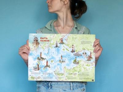 Набор почтовых открыток «маяки Финского залива»