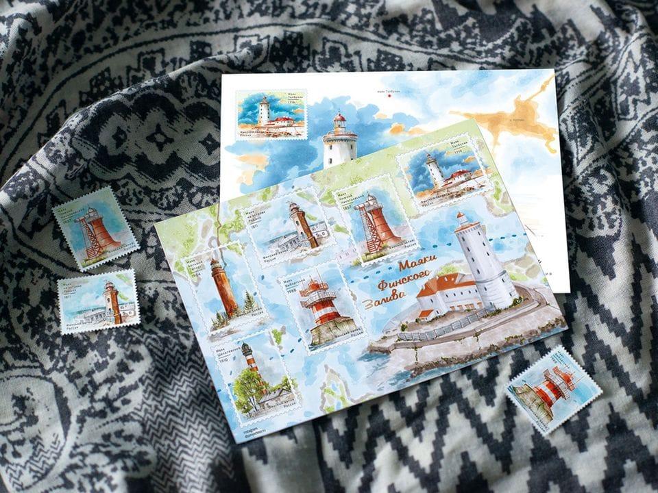 Наклейки «маяки Финского залива» на 6 стикеров