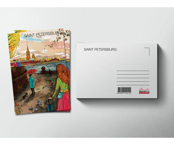 Почтовая открытка «Петропавловская крепость» из коллекции Романтический Петербург