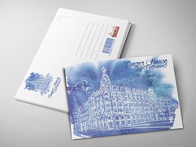 Почтовая открытка «Дом Зингера»