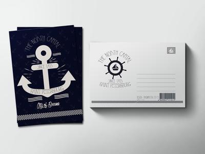 Почтовая открытка «Якорь»