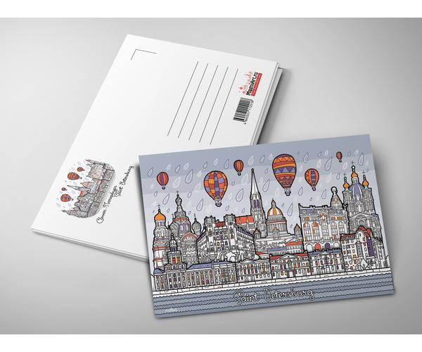 Почтовая открытка «Панорама Санкт-Петербурга» из коллекции Весь Петербург