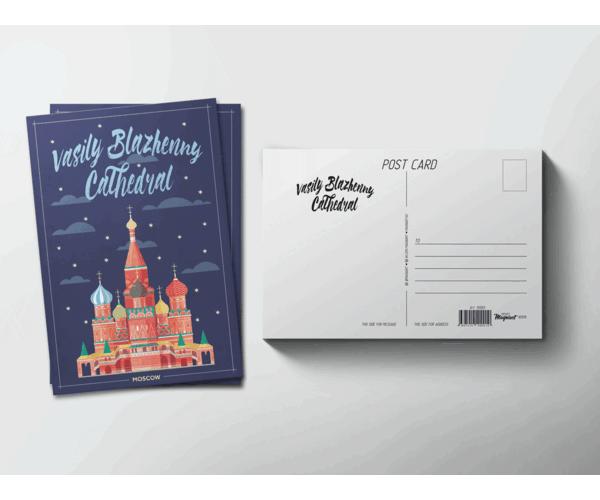 Почтовая открытка «Храм Василия Блаженного» (Москва) для pstcrossing