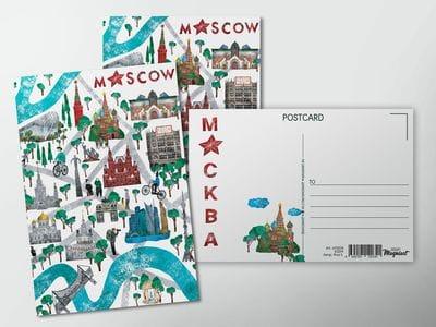 Почтовая открытка «Парк Зарядье»