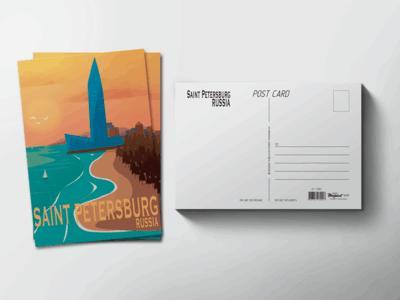 Почтовая открытка «Лахта центр»