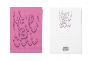 Открытка почтовая «I love you»