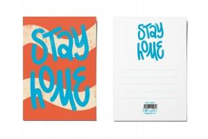 Открытка почтовая «Stay Home»