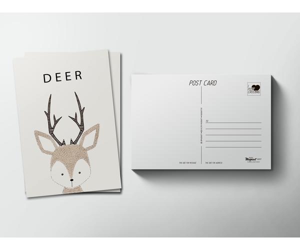 Почтовая открытка «Олень» для посткроссинга