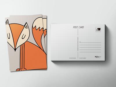 Почтовая открытка «Лиса»