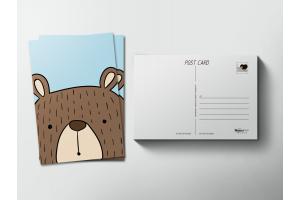 Почтовая открытка «Мишка»