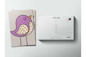 Почтовая открытка «Птичка»