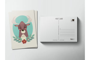 Почтовая открытка «Олень»