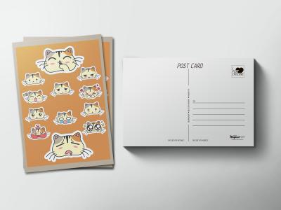 Почтовая открытка «Котики мемы»