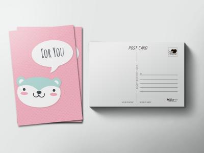 Почтовая открытка «Панда for you»