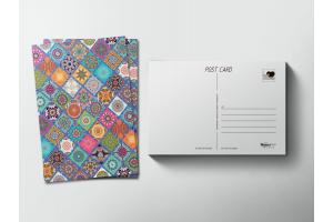 Почтовая открытка «Узоры»