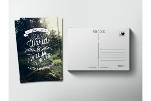 Почтовая открытка «Слоган»