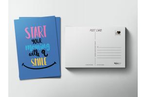 Почтовая открытка «Smile»