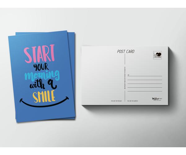 Почтовая открытка «Smile» для посткроссинга