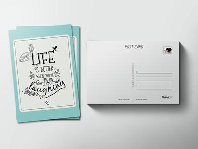 Почтовая открытка «Life» для посткроссинга