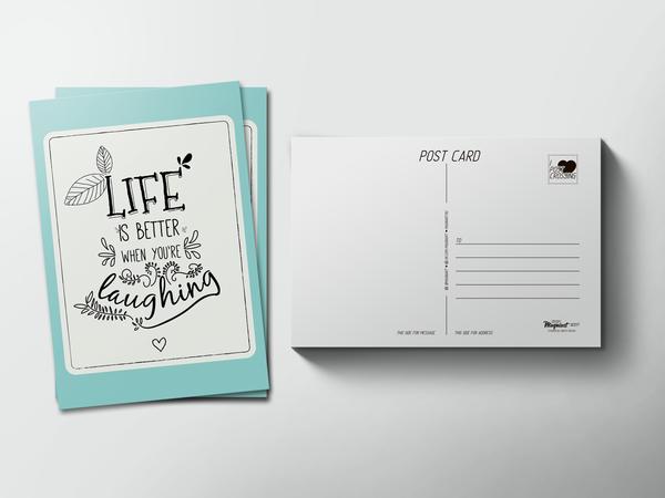 Почтовая открытка «Life»