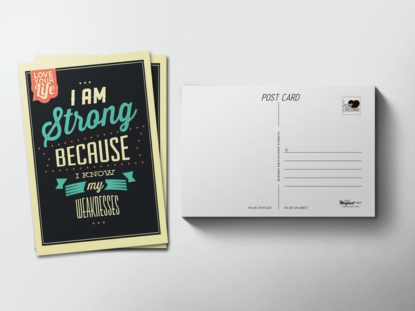 Почтовая открытка «I am Strong»