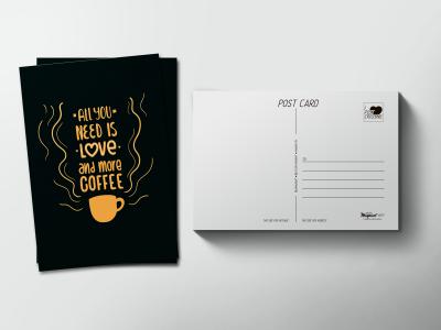 Почтовая открытка «Coffee, Кофе»