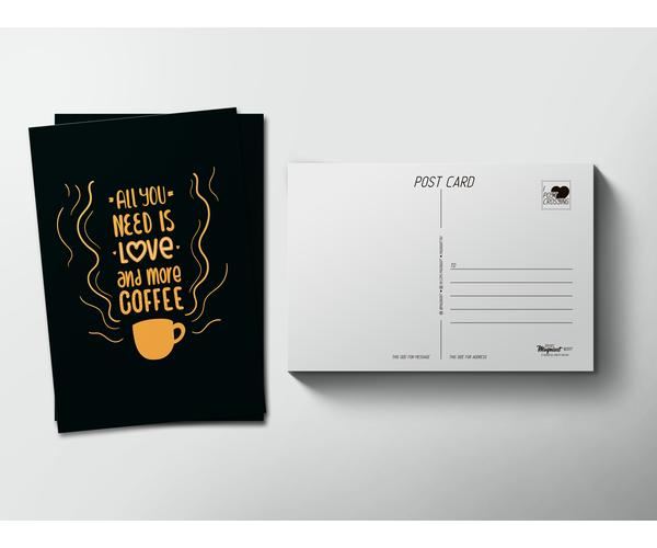 Почтовая открытка «Coffee» для посткроссинга
