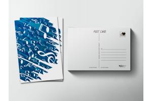 Почтовая открытка «Музыка ноты»