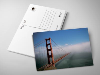 Почтовая открытка «Красный мост»