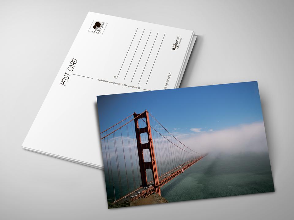 Почтовая открытка «Красный мост» для посткроссинга