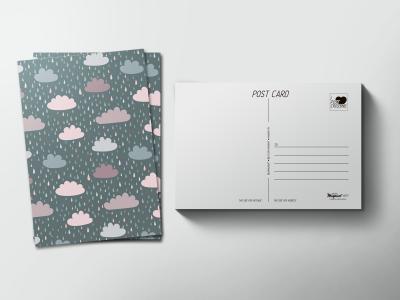 Почтовая открытка «Дождливые тучи»