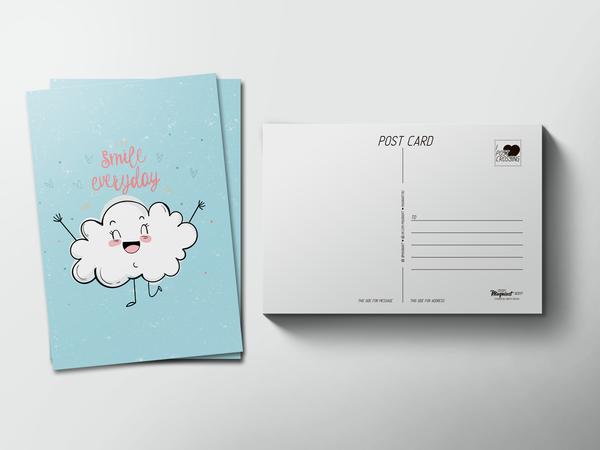 Почтовая открытка «Smile everyday»