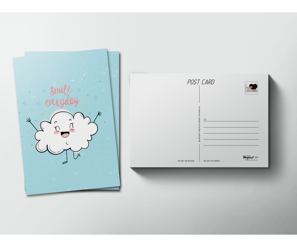 Почтовая открытка «Smile everyday» для посткроссинга