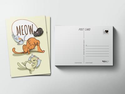 Почтовая открытка «Meow»