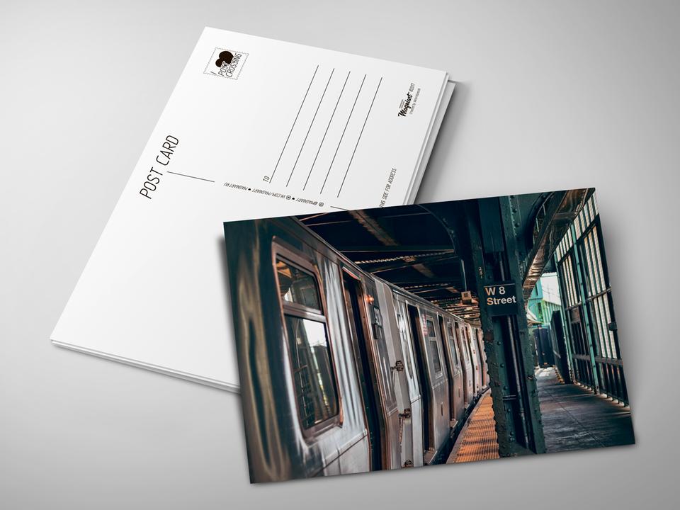 Почтовая открытка «Subway» для посткроссинга