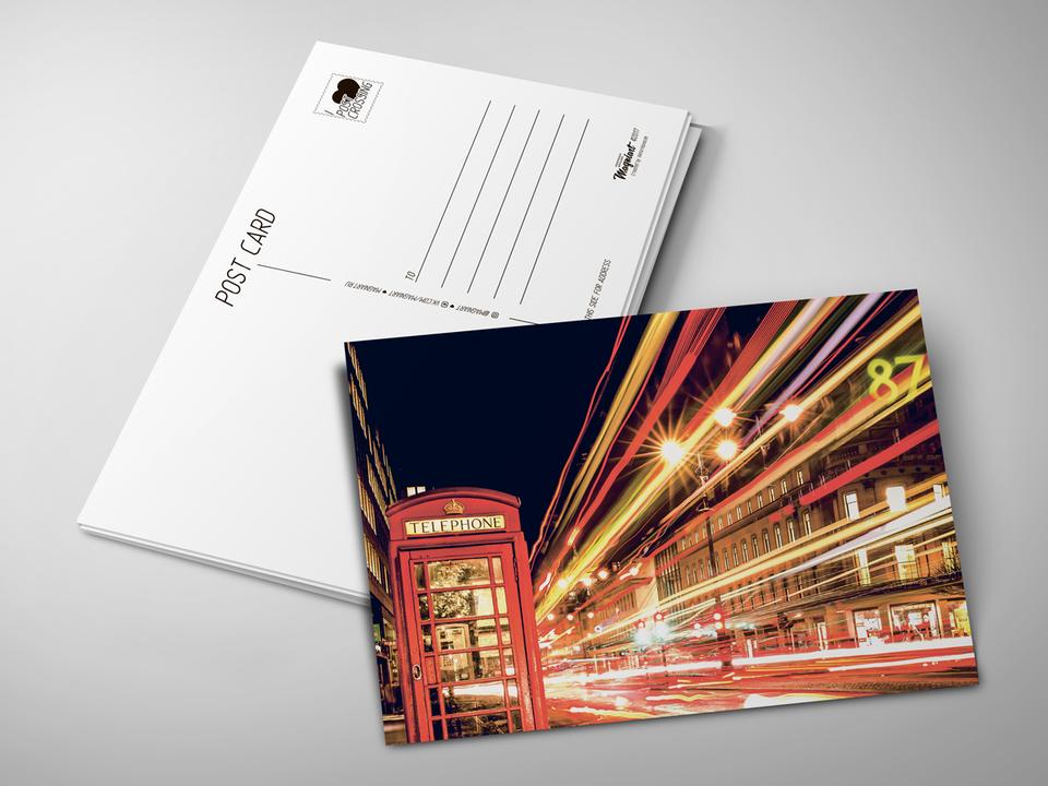 Почтовая открытка «Лондонский телефон» для посткроссинга