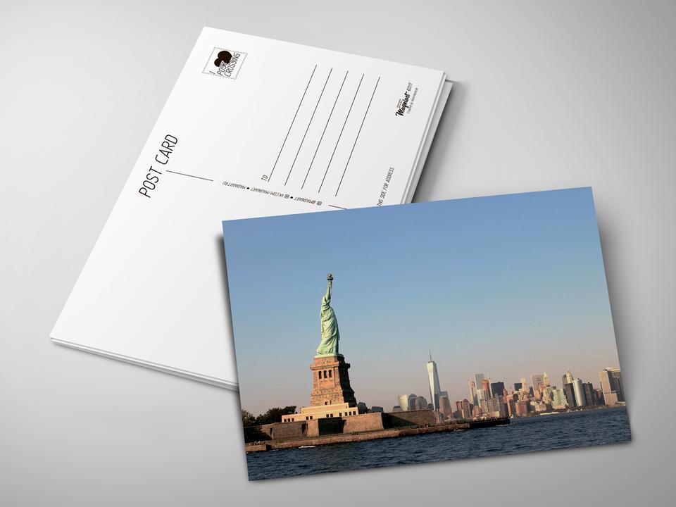 Почтовая открытка «Статуя свободы» для посткроссинга