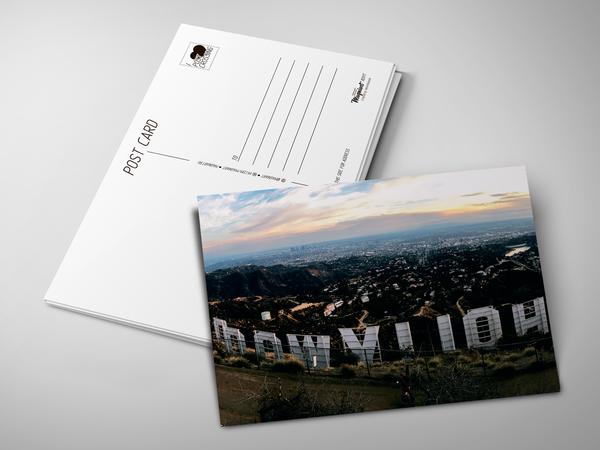 Почтовая открытка «Hollywood»