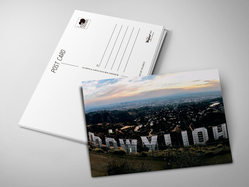 Почтовая открытка «Hollywood» для посткроссинга