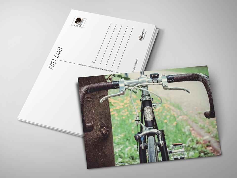Почтовая открытка «Велосипед» для посткроссинга