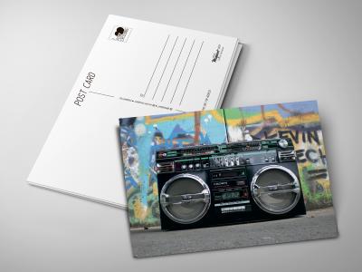 Почтовая открытка «Магнитофон»