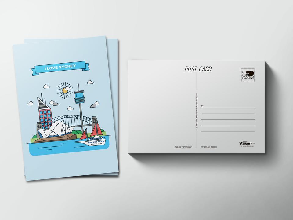 Почтовая открытка «Sydney» для посткроссинга