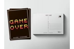 Почтовая открытка «Game Over»