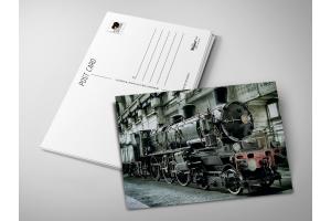 Почтовая открытка «Паровоз»