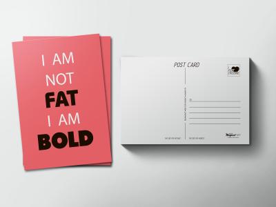 Почтовая открытка «FAT-BOLD»